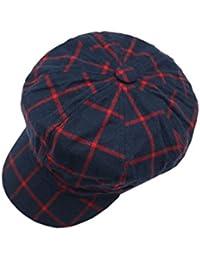 aaba490eb7f XueXian(TM) Women s Flat Peaked Hat Autumn Beret Baggy Octagonal Cap