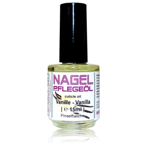 NAILFUN Nagelhautpflege-Öl Vanille 15ml in der Glas-Pinselflasche - Nagelöl Vanilla