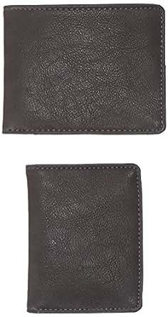 Celio - Vipick - Duo Portefeuille Porte Cartes en Cuir - Gris - Taille unique (Taille fabricant : Taille unique)