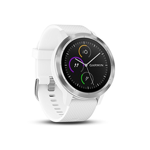 Garmin 010-01769-20 Vivoactive 3 GPS Smartwatch with Built-In Sports Apps and Wrist Heart Rate, White