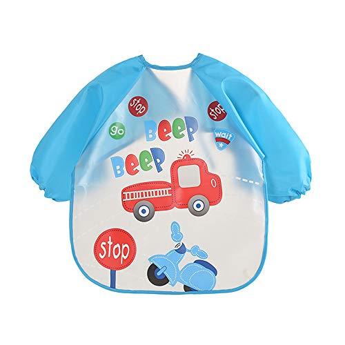 KEKEDA Unisex Infant Toddler Baby Impermeable con Mangas Bib, Toddler Bib Sleeved...