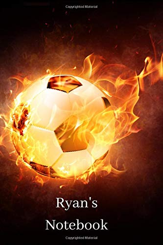 Ryan's Notebook: Personalised Football Cover Notebook | 160 Ruled Pages | 6x9 Journal | Paperback Diary | Glossy Finish por Nikki J Dalby