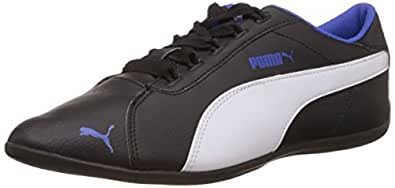 Puma Women's SoniaDP Black and Dazzling Blue Leather Sneakers - 4 UK/India (37 EU)