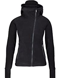 Bench Fleecejacke Ninja Hood Body Mould - Sweat-Shirt Femme, Noir (Black) - Small (Taille fabricant: Small)