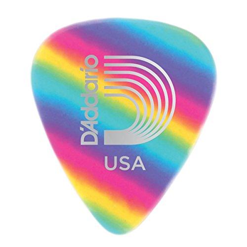 D'Addario 1CRB4-100 Planet Waves Rainbow Celluloid Picks 0,70 mm, 100 Stück Paulas Pick