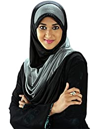 Parvin Women's Polyester Hijab (Turquoise Blue_XL)