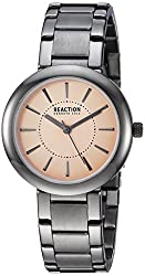 Kenneth Cole REACTION Womens Quartz Metal and Stainless Steel Casual Watch, Color:Grey (Model: RK50103004)