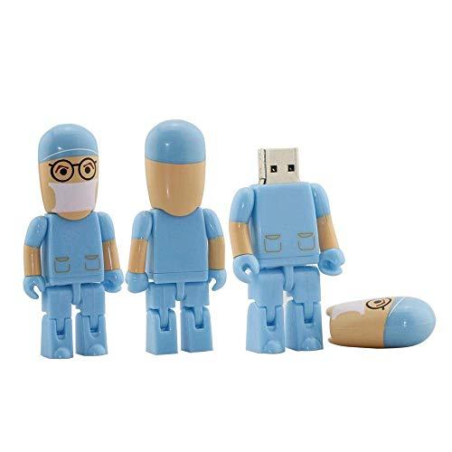 U disk - chiavetta usb 2.0 da 32 gb, a forma di animale multicolore blue 8gb