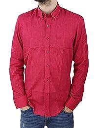 Camisa de Lino y algodón clásica con Botones Estilo Casual Ajustada Ideal Verano para Hombre