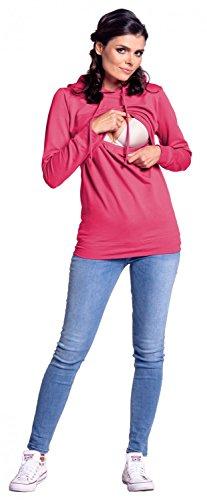 Zeta Ville - Still-Sweatshirt Kapuze Lagendesign Kapuzenpullover - Damen - 272c Fuchsie