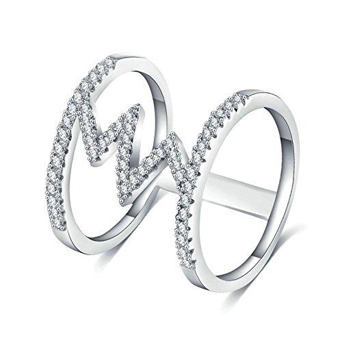 tahl Ring Für Damen Silber Zylindrisch Damenring CAI Chanukka Size:60 (19.1) ()
