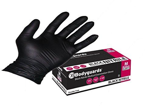 Preisvergleich Produktbild Bodyguard Einweg schwarz Nitril Handschuhe Klein