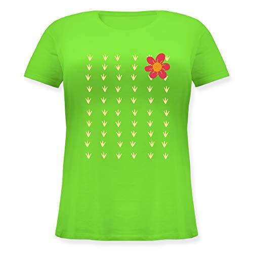 Karneval & Fasching - Kaktus Karneval Kostüm - L (48) - Hellgrün - JHK601 - Lockeres Damen-Shirt in großen Größen mit Rundhalsausschnitt (Kaktus Kostüm Frauen)