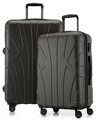 Suitline - 2er Koffer-Set Trolley-Set Rollkoffer Hartschalen-Koffer Reisekoffer, TSA, (66 cm, 76 cm), 100{dca94fe968a2d44f1e7ec82ba662088ede038f61364b4769c6d263cfd3bdb667} ABS, Matt