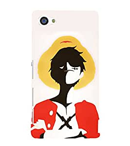 FUSON Luffy Statue With Hat 3D Hard Polycarbonate Designer Back Case Cover for Sony Xperia Z5 Compact :: Sony Xperia Z5 Mini