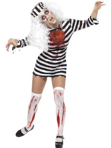 Halloween-Zombie-Kostüm Sträfling Kostüm Kleid Gr. - Sträfling Halloween-kostüme Uk