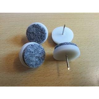100 Stück Filz-Möbelgleiter Ø 24 mm zum Einschlagen mit Stift G008 aus Kunststoff, Filzgleiter