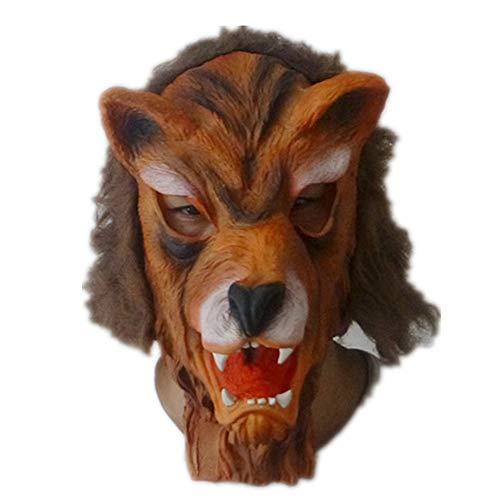 WHLMJ Horrible Halloween Bar Und Tanz Kostüm Verkleidet Als Tierkopf Wolfskopf Maske