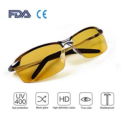 Bloomoak beste Nachtfahrbrille, HD Nachtsicht, polarisierte Gläser für UV400-Augenschutz, Nachtfahren, Golf, Angeln, Risiko, reduziert Blendschutz, ultraleichtes Fahren - Reduziert Risiko