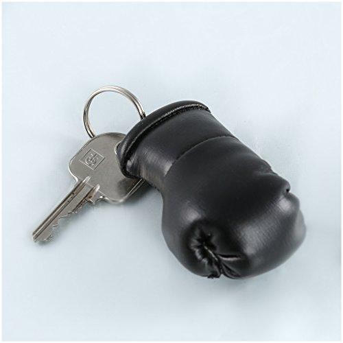 Sportfanshop24 Schlüsselanhänger/Anhänger für Schlüssel - SCHWARZ - Boxhandschuh mit Schlüsselring, 7 cm groß