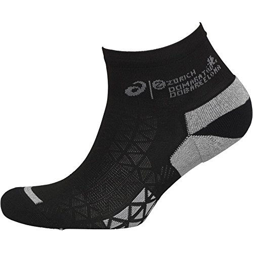 Asics Marathon Racer Herren Rennen Sport Training Socken Schwarz - Schwarz, UK 12-14 (Racer Socken)