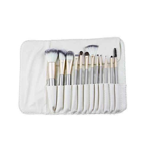Boocy 12 pièces Pinceaux Maquillage Estompeur Outil Ensemble