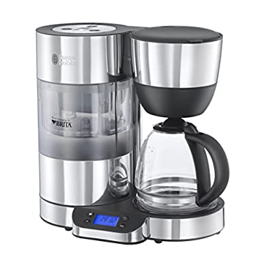 Russell Hobbs Purity Brita Filter Coffee Machine 20770, 1.25 L - Black/Silver by Russell Hobbs