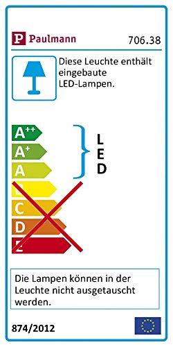 Paulmann 70638 Schrankleuchte LED SmartLight für Arbeitsflächen, Schränke, Regale dimmbar batteriebetrieben Schalter An/Aus/Dimmen und Bewegungsmelder