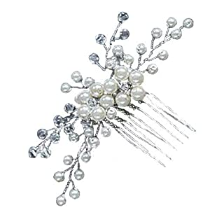 Damen Haarschmuck Haardekoration Haardeko Haarkamm Haarkämme Braut Hochzeit Schmuck Accessoires Kristall Kristallen Perlen Design Schmuck super schön