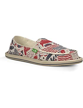 Sanuk Womens Donna Slip-On American Icon 5 M