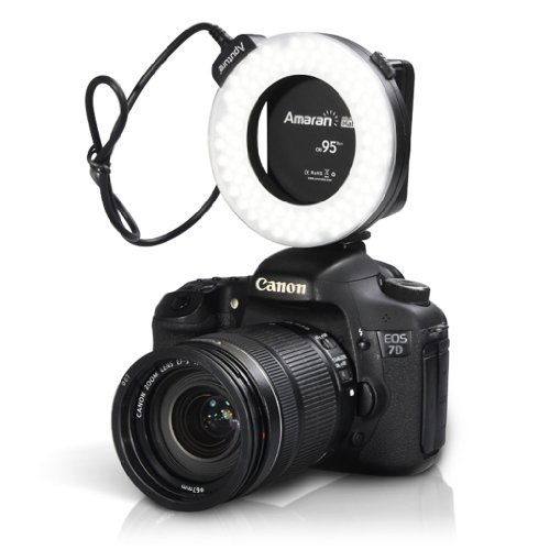 4. Aputure Amaran Halo AHL-HC100 CRI 95+ LED Macro Anneau Lampe de poche pour Canon DSLR AVEC HAUT cri Lampe LED perles