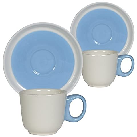 Loveramics Marshmallow Espresso Cup and Saucer, Blue, Set of 2 by Loveramics