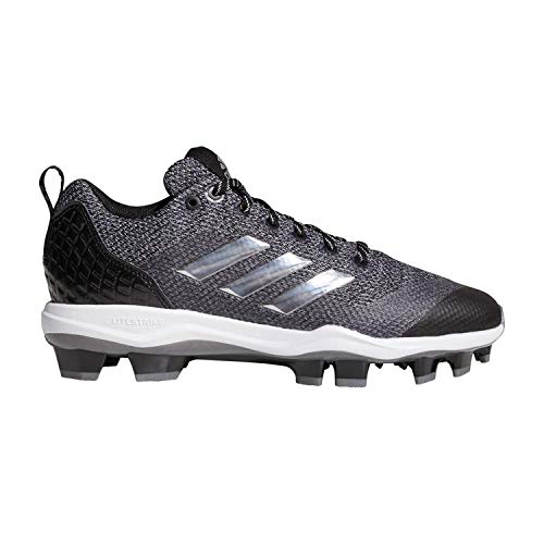 adidas PowerAlley 5 TPU Molded Cleat Baseball Shoes Mens 9.5 Black -