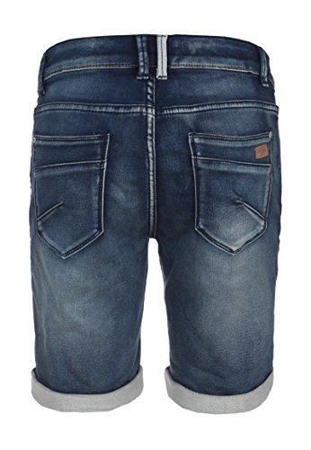 Urban Surface Blaue Damen Sweat Bermuda | Elegante Jeans-Shorts mit Aufschlag und klassischem 5-Pocket Design | Kurze Hose aus hochwertigem Denim dark-blue XS (Twill Schräge Stretch Tasche Hose)