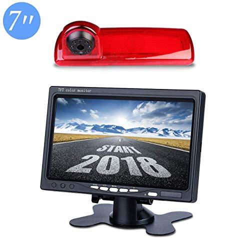 """Auto Dritte Dach Top Mount Bremsleuchte Kamera Bremslicht Rückfahrkamera für Nissan NV300 Opel Vauxhall Vivaro/Renault Trafic 2015-2019 +7.0\"""" Zoll DVD Monitor TFT Bildschirm LKW KFZ LCD Display"""