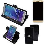 K-S-Trade® Case Schutz Hülle Für -Allview X4 Soul Lite- Handyhülle Flipcase Smartphone Cover Handy Schutz Tasche Bookstyle Walletcase Schwarz (1x)