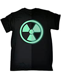 123t Men's - GLOW IN THE DARK RADIOACTIVE - Loose Fit T-shirt