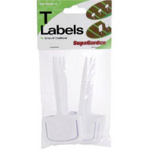 Lot de 10 étiquettes en forme de T plantes en plastique réutilisable