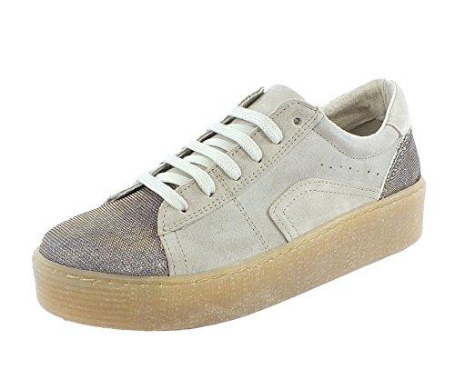7209 Marco Tozzi Leder Sneaker dune Beige