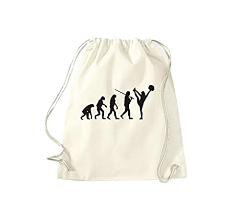 Turnbeutel Evolution Cheerleader Cheerleading Kostüm Fun Sport Tanz Gymsack Kultsack natur