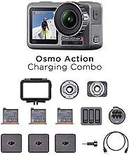 DJI Osmo Action Charging Combo - Digitalkamera mit Zubehör-Kit enthalten, 2 Bildschirmen, wasserdicht bis zu 1