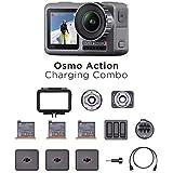 DJI Osmo Action Charging Combo - Cámara Digital con Kit de Accesorios Incluido, Pantalla Doble, Resistente al Agua hasta 11 m
