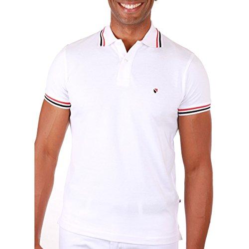 SEBASTIANO Herren Poloshirt Weiß