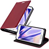 Cadorabo Custodia Libro per Samsung Galaxy S5 / S5 Neo in Rosso Mela - con Vani di Carte, Funzione Stand e Chiusura Magnetica - Portafoglio Cover Case Wallet Book Etui Protezione