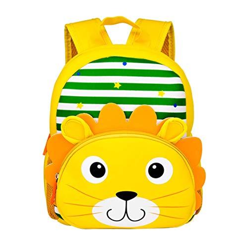 Yeelan Impermeabile Sacchetto di scuola materna Bambini Zaino Scuola per bambini Daypack per la materna Viaggi ecc. (Leone, Neoprene)