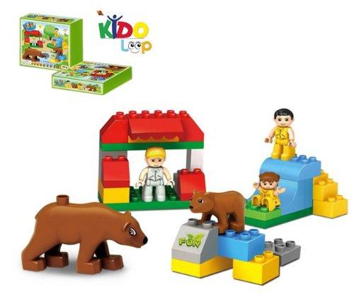 Kidoloop-Brick-Block-Fun-Park-Figures-Bears-Set-35pcs-Building-Construction-Toys