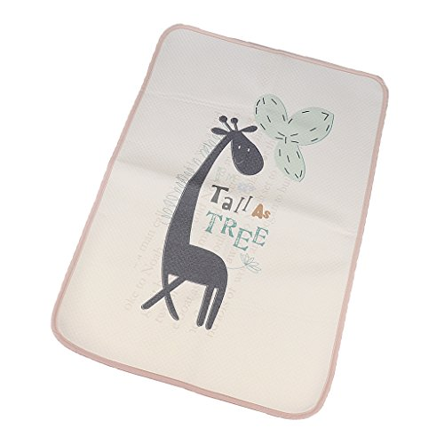 Segolike Infant Baby Deluxe Changing Pad Waterproof Animal Pattern Diaper Changing Mat For Home And Travel - giraffe, 30X45cm