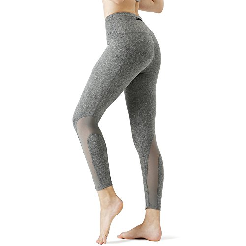CHICMODA Yoga Caprihose Damen Sport Leggings Jogginghose mit Versteckte Tasche - (Grau)