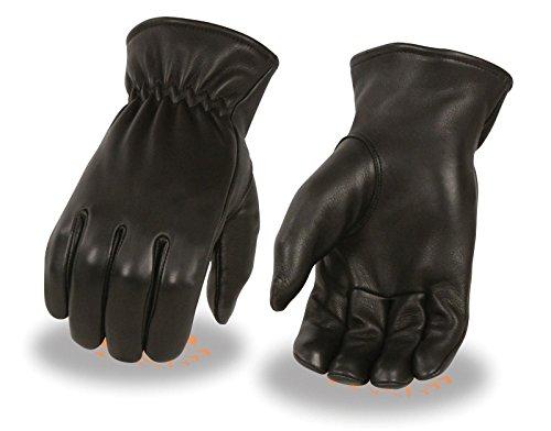 Preisvergleich Produktbild Herren AMERICAN DEER SKIN BLK Leder Police ungefüttert Handschuhe mit Cinch Handgelenk Weich Regular)