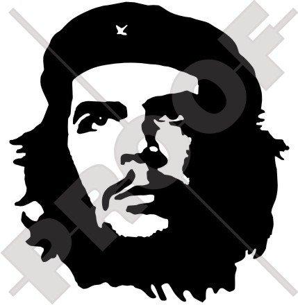 Che Guevara revolutionist 111,8 cm (110 mm) en vinyle Bumper Sticker, autocollant